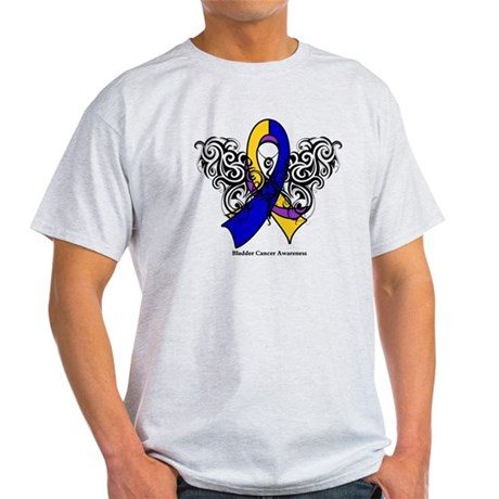Bladder Cancer Tribal Light T-Shirt
