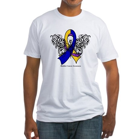 Bladder Cancer Tribal Fitted T-Shirt