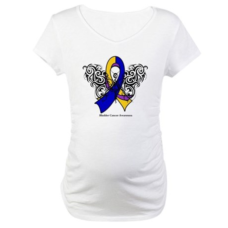 Bladder Cancer Tribal Maternity T-Shirt