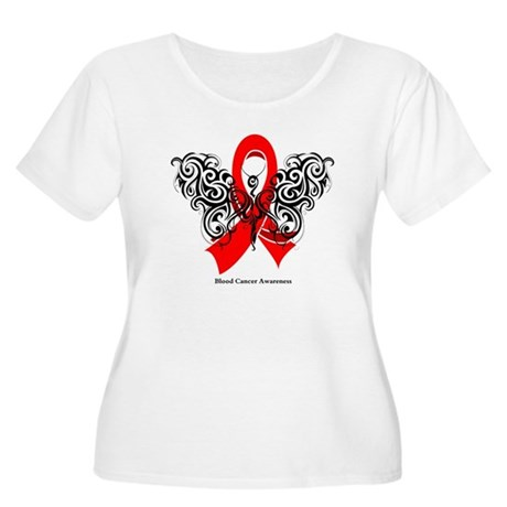 Blood Cancer Tribal Women's Plus Size Scoop Neck T