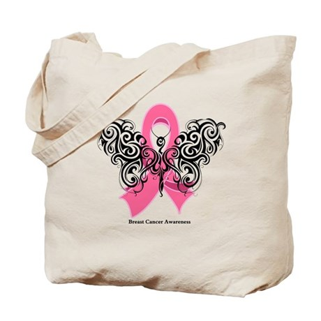 Breast Cancer Tribal Tote Bag