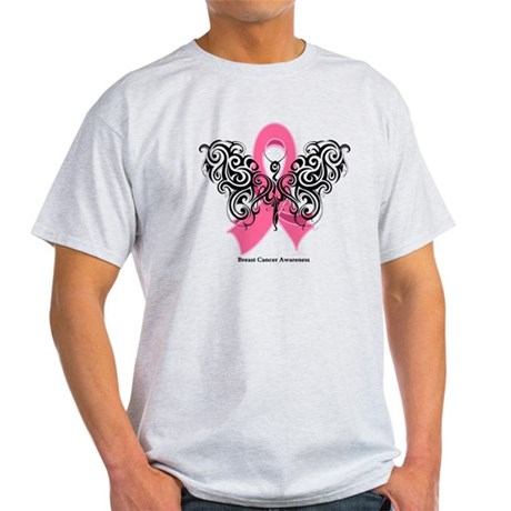 Breast Cancer Tribal Light T-Shirt