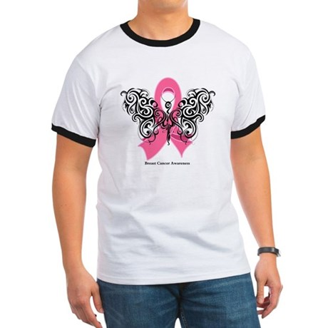 Breast Cancer Tribal Ringer T