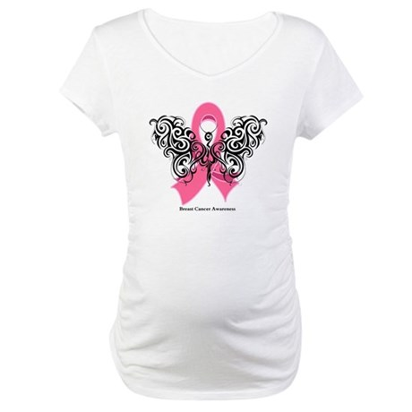 Breast Cancer Tribal Maternity T-Shirt