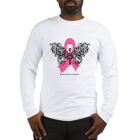 Breast Cancer Tribal Long Sleeve T-Shirt