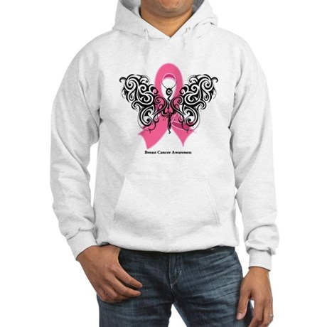 Breast Cancer Tribal Hooded Sweatshirt