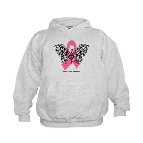 Breast Cancer Tribal Kids Hoodie
