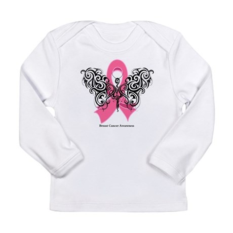 Breast Cancer Tribal Long Sleeve Infant T-Shirt