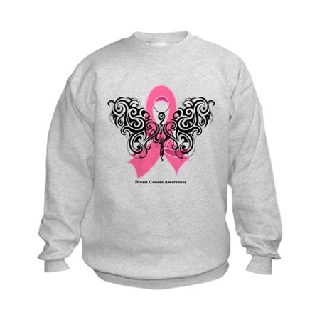 Breast Cancer Tribal Kids Sweatshirt