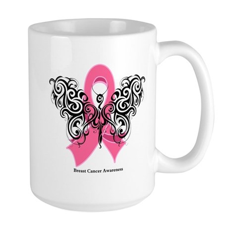 Breast Cancer Tribal Large Mug