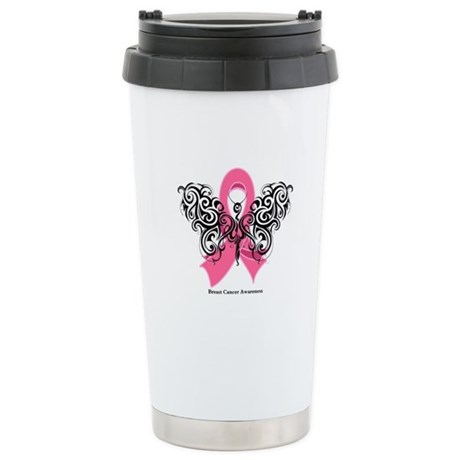 Breast Cancer Tribal Ceramic Travel Mug