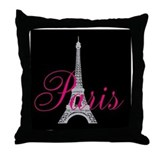 I Love Paris Throw Pillow