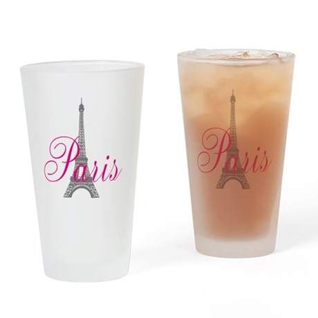 I Love Paris Drinking Glass