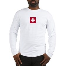 Switzerland Swiss Suisse (CH) Flag -  Long Sleeve