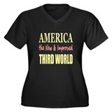 America the New 3rd World Women's Plus Size V-Neck