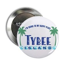 "Tybee Happy Place - 2.25"" Button"