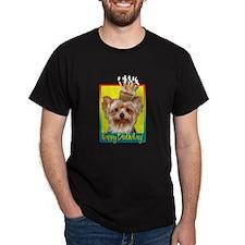 Birthday Cupcake - Yorkie T-Shirt