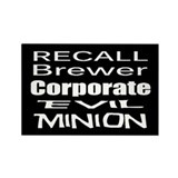 Recall Governor Brewer Rectangle Magnet (100 pack)