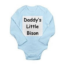 Daddy's Little Bison Long Sleeve Infant Bodysuit