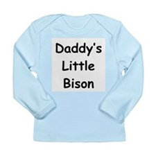 Daddy's Little Bison Long Sleeve Infant T-Shirt