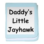Daddy's Little Jayhawk baby blanket