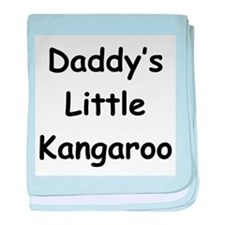 Daddy's Little Kangaroo baby blanket