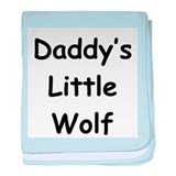 Daddy's Little Wolf baby blanket