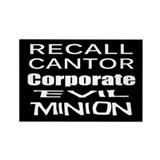 Recall Eric Cantor Rectangle Magnet