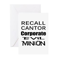 Recall Eric Cantor Greeting Card