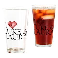I Heart Luke & Laura Pint Glass