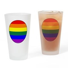 Round Pride Flag Pint Glass