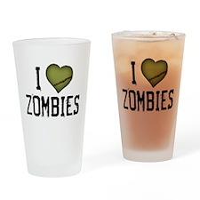 I Heart Zombies Pint Glass