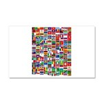 Parade of Nations Car Magnet 12 x 20