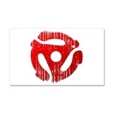 Distressed Red 45 RPM Adap Car Magnet 12 x 20