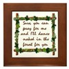 Naked Pagan Dance Framed Tile