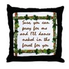 Naked Pagan Dance Throw Pillow