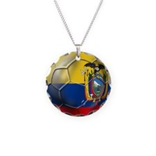 Ecuador Soccer Ball Necklace