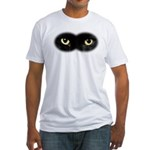 Black Cat Eyes Fitted T-Shirt