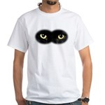 Black Cat Eyes White T-Shirt
