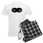 Black Cat Eyes Men's Light Pajamas