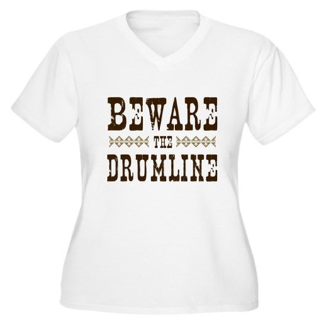 Beware the Drumline Women's Plus Size V-Neck T-Shi