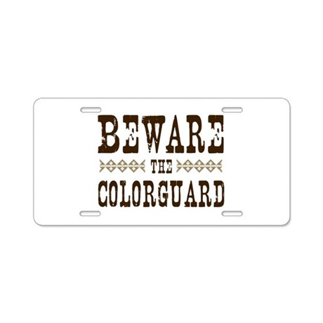 Beware the Colorguard Aluminum License Plate