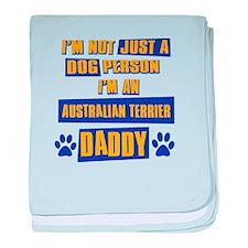 Australian Terrier Daddy baby blanket
