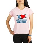 I Heart Christmas Vacation Women's Sports T-Shirt