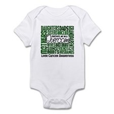 Family Square Liver Cancer Infant Bodysuit