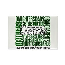Family Square Liver Cancer Rectangle Magnet