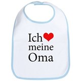 I Love Grandma (German) Bib