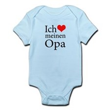 I Love Grandpa (German) Infant Bodysuit
