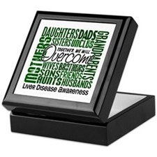 Family Square Liver Disease Keepsake Box