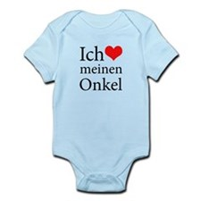 I Love Uncle (German) Infant Bodysuit